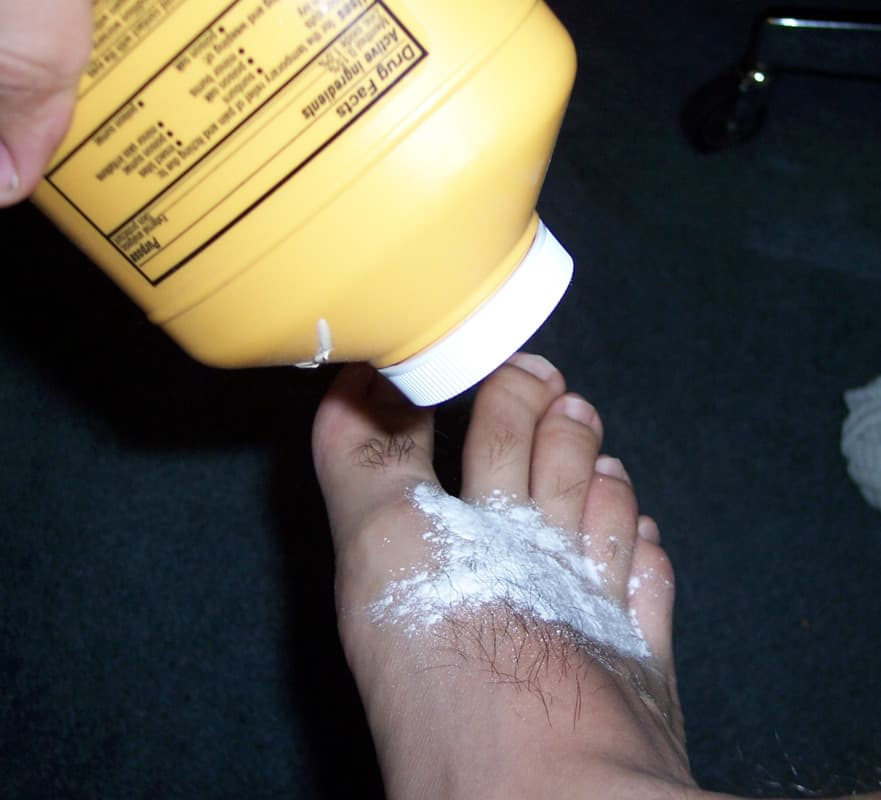 COMMERCIAL PRODUCTS TO COUNTER SWEATY FEET PROBLEM